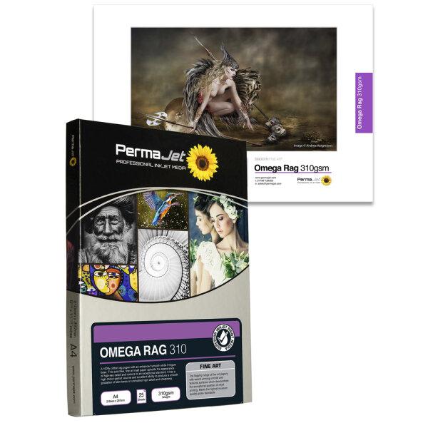 PermaJet Omega Velvet Rag 310, DIN A3, 25 Blatt