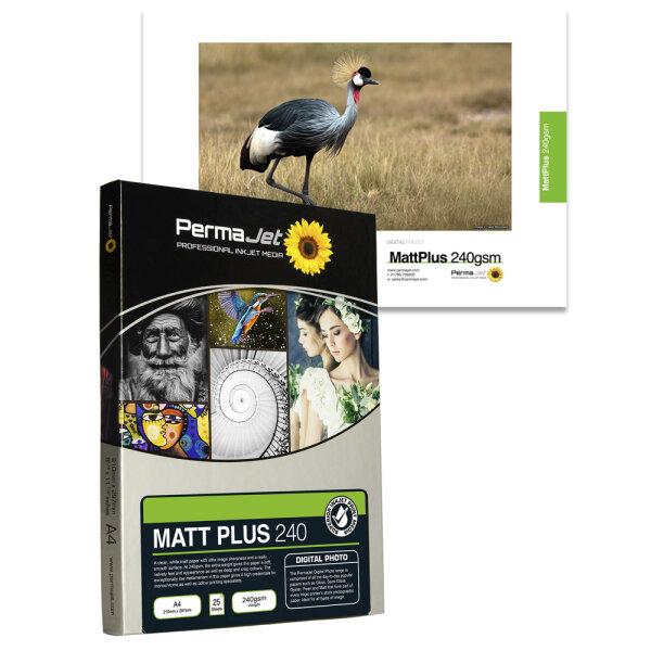 """PermaJet Matt Plus 240, 13x18 cm (5x7""""), 500 Blatt"""