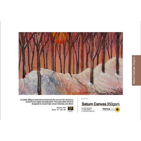 PermaJet Saturn Semigloss Canvas 350, 350 g/qm, A3+ (329x483 mm), 10 Blatt