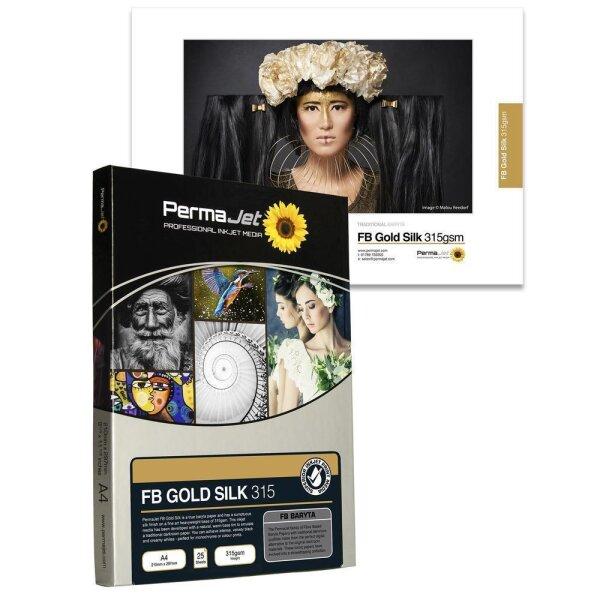 PermaJet FB Gold Silk 315, DIN A4, 25 Blatt