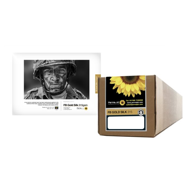 "PermaJet FB Gold Silk 315, Rolle (44"") 111,8 cm  x 15 m"