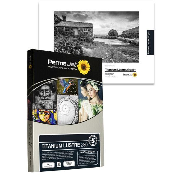 "PermaJet Titanium Lustre Metallic 280, 10x15 cm (4x6""), 100 Blatt"