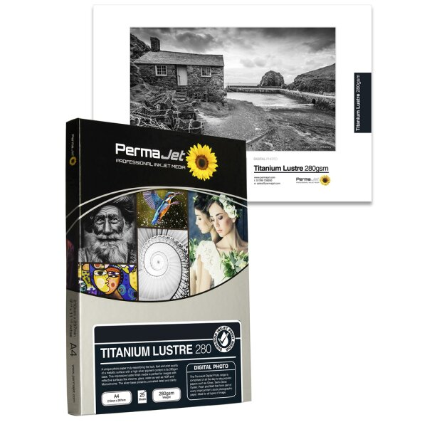 "PermaJet Titanium Lustre Metallic 280, 13x18 cm (5x7""), 100 Blatt"