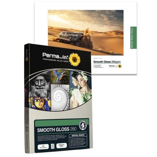"PermaJet Smooth Gloss 280, 13x18 cm (5x7""), 100 Blatt"
