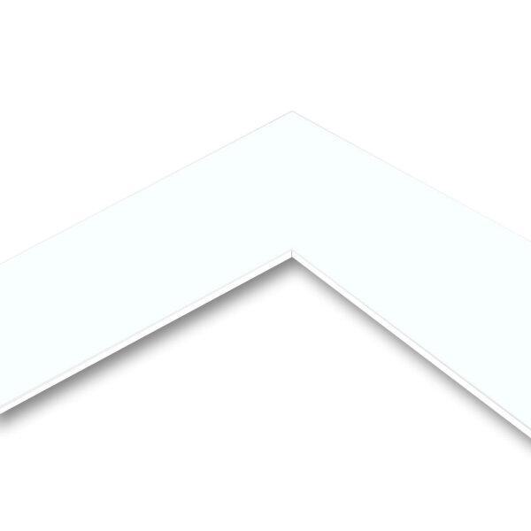 MountBoard / Passepartout Karton Ice White (smooth), 40x50 cm, 5 Blatt