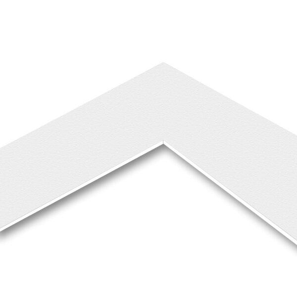 MountBoard / Passepartout Karton Snow White (texture), 40x50 cm, 5 Blatt
