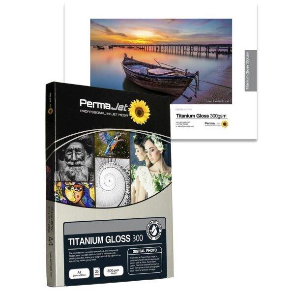 """PermaJet Titanium Gloss Metallic 300, 10x15 cm (4x6""""), 100 Blatt"""